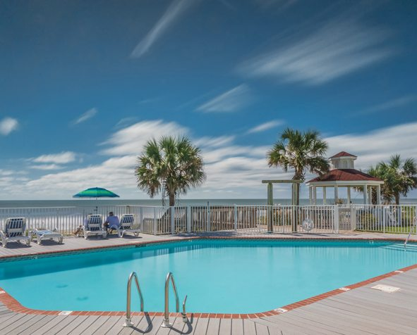 The Islander Inn, Ocean Isle, NC Pool & Sun Deck is one of our many amenities.