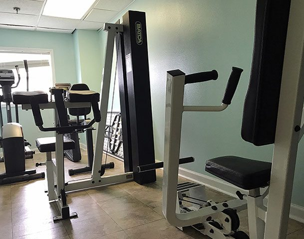 The Islander Inn, Ocean Isle, NC hotel amenities feature a gym to get your workout on!